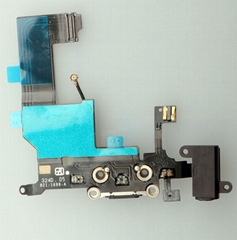 For iPhone 5 Dock Connector Lighting Charging Flex Cable Black