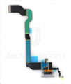 For iPhone X Charging Port Dock Flex Light Gray