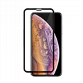 For iPhone Xs Round edge full edge tempered glass    3