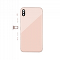 For iPhone XS Max Back Cover Glass With Back Camera Lens Replacement Aftermarket