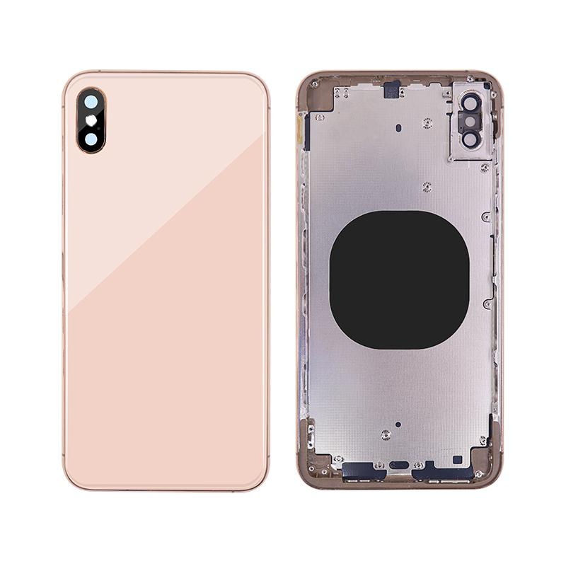 For iPhone XS Max Back Cover Glass With Back Camera Lens Replacement Aftermarket 1