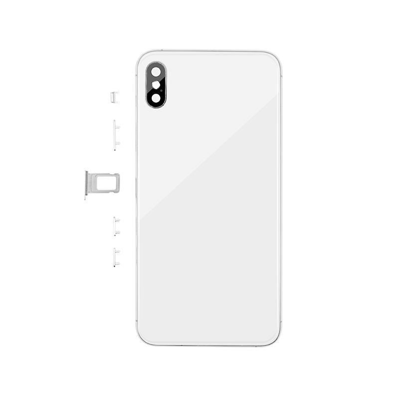 For iPhone XS Max Back Cover Glass With Back Camera Lens Replacement Aftermarket 6