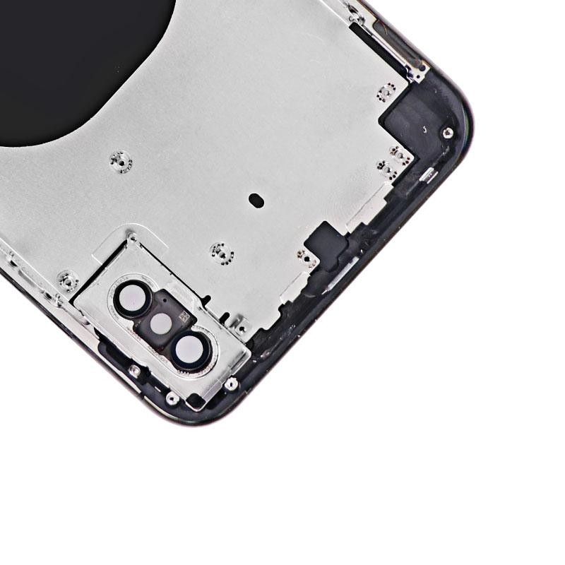 For iPhone XS Max Back Cover Glass With Back Camera Lens Replacement Aftermarket 11
