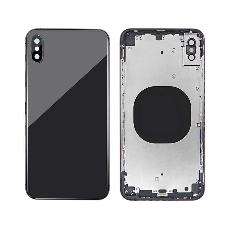 For iPhone XS Max Back Cover Glass With Back Camera Lens Replacement Aftermarket 9