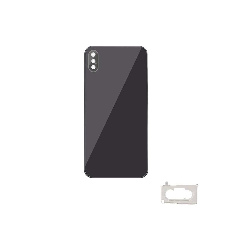 For iPhone XS Back Cover Glass With Back Camera Lens Replacement Aftermarket 3