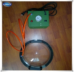 Vacuum testing box for geomembrane