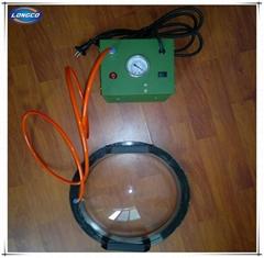 Vacuum testing box for geomembrane