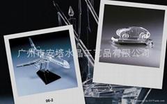 水晶汽车模型