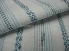 全棉色織提花布