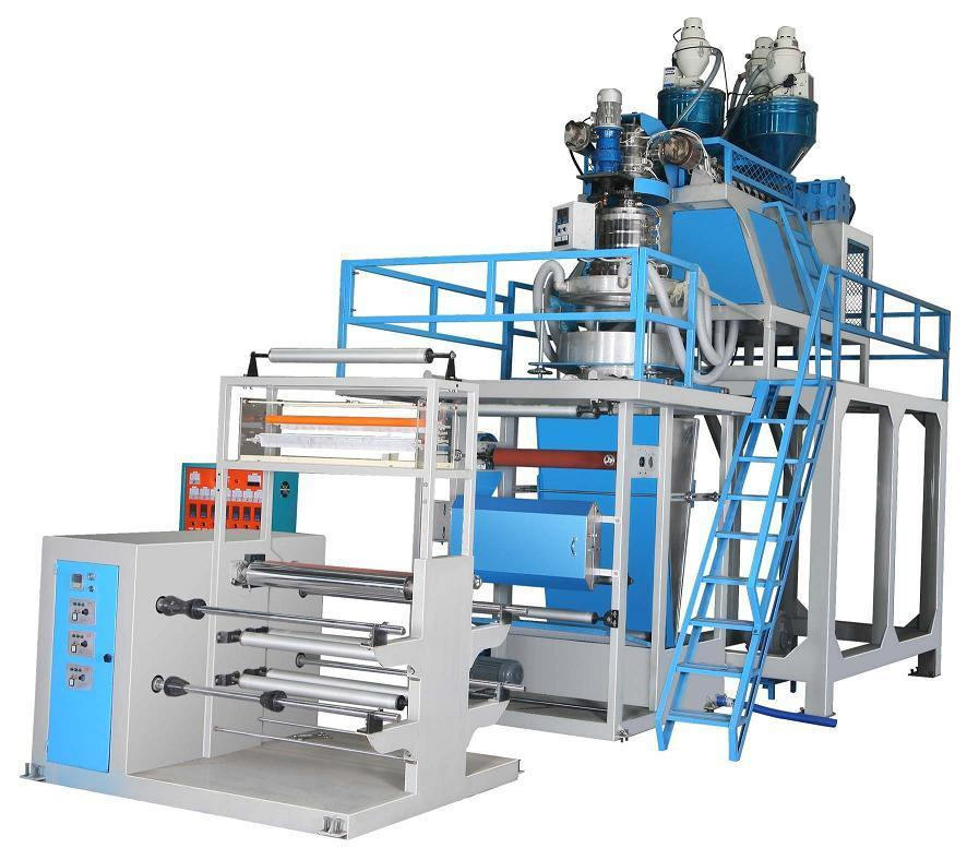 Three-tier co-extruded ABA film blowing machine 1