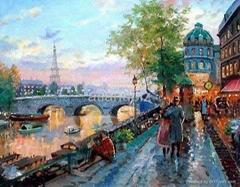 Street oil paintings