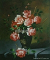 Floral oil paintings