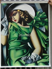 Lampicka oil painting