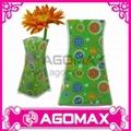 Hot-selling Promotional Plastic PVC Foldable Vase flower pots  1