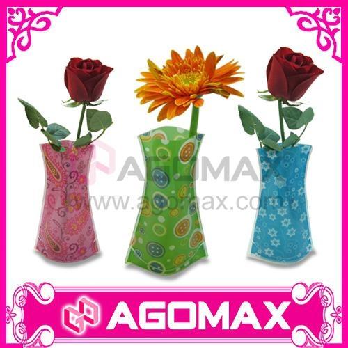 Hot-selling Promotional Plastic PVC Foldable Vase flower pots  2