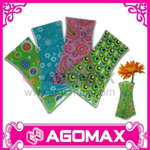 Hot-selling Promotional Plastic PVC Foldable Vase flower pots  3