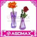 Hot-selling Promotional Plastic PVC Foldable Vase flower pots  4
