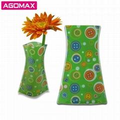 Hot-selling Promotional Plastic PVC Foldable Vase flower pots