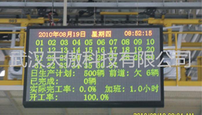 車間生產管理安燈系統 1