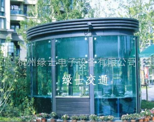 钢结构玻璃岗亭 3