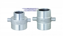 double male nipple whith lug-aluminum