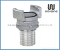 GUILLEMIN COUPLING WITH LOCK RING AND MULTI-SERRATED LONG HOSE TAIL-SS
