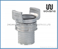 GUILLEMIN COUPLING WITH LOCK RING AND MULTI-SERRATED SHORE HOSE TAIL-SS