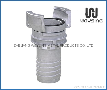 GUILLEMIN COUPLING WITHLOCK RING AND MULTI-SERRATED HOSE TAIL-SS