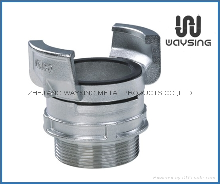 GUILLEMIN COUPLING WITH LOCK RING AND MALE BSP PARALLEL THREAD-SS
