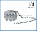 GUILLEMIN COUPLING BLANK CAP WITH LOCK RING AND C/W CHAIN-ALUMINUM