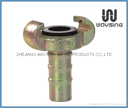 Air hose coupling hose shank W/O Collar