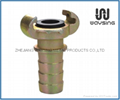 air hose coupling hose shank with collar