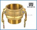 Brass B(Coupler x Male Thread)