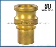 DIN2828 TYPE E(Male Adapter x Hose Shank)-BRASS