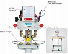 Three Heads Pneumatic Button Attaching Machine