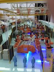 生产线沙盘模型