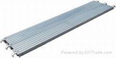 Aluminum plank for scaffolding