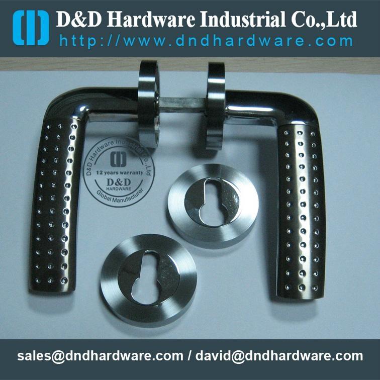 Solid stainless steel lever door handle with UL Certificate 20