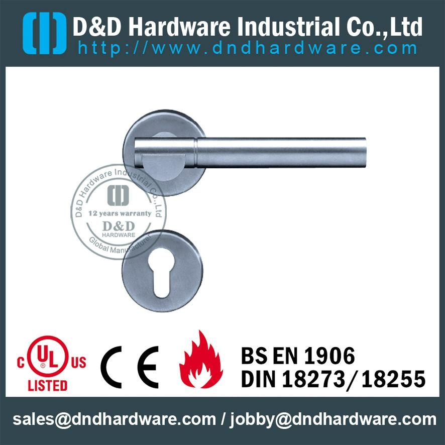 stainless steel solid door handle ANSI Standard  DDSH018