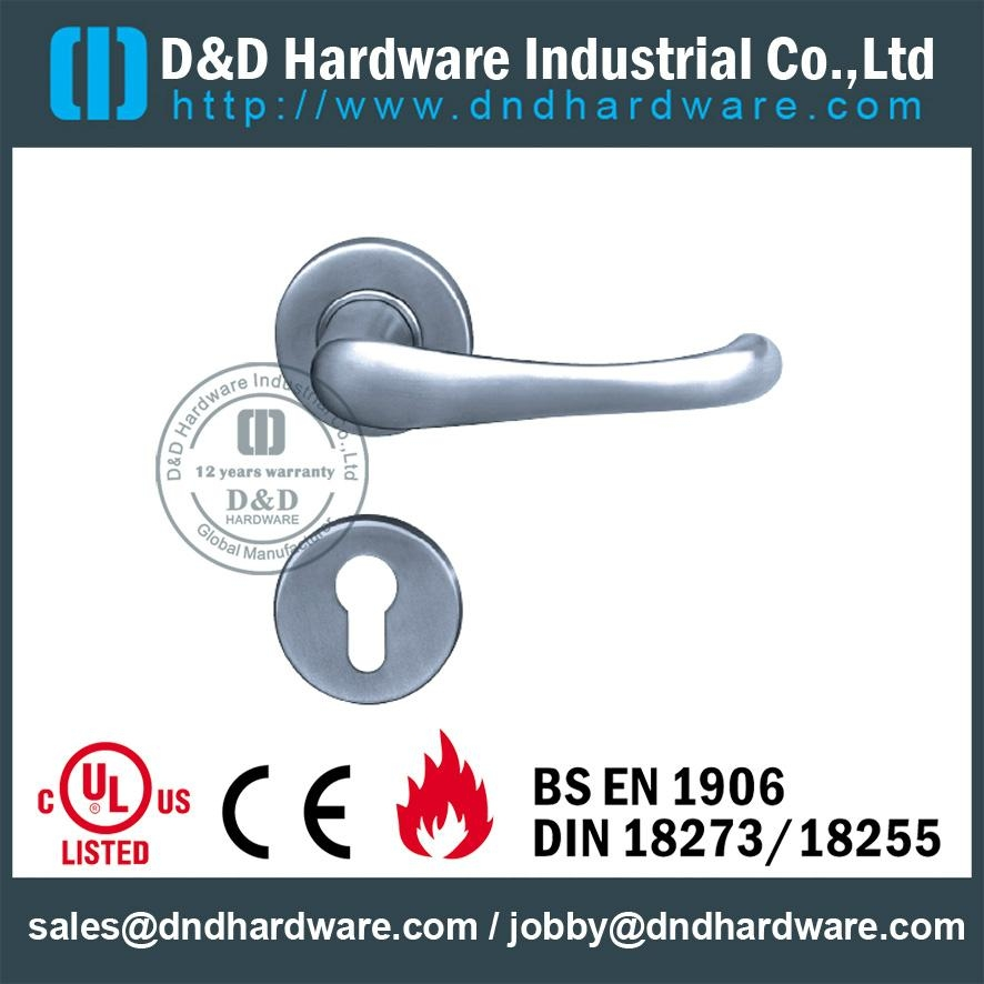 stainless steel solid door handle ANSI Standard  DDSH005
