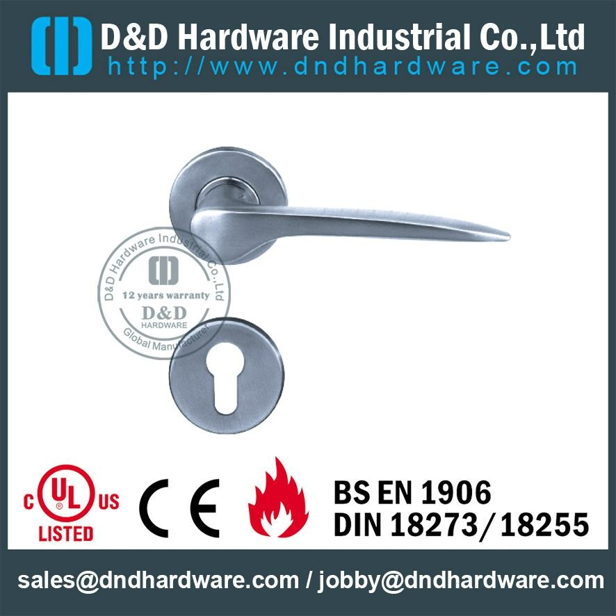 stainless steel solid door handle ANSI Standard  DDSH008