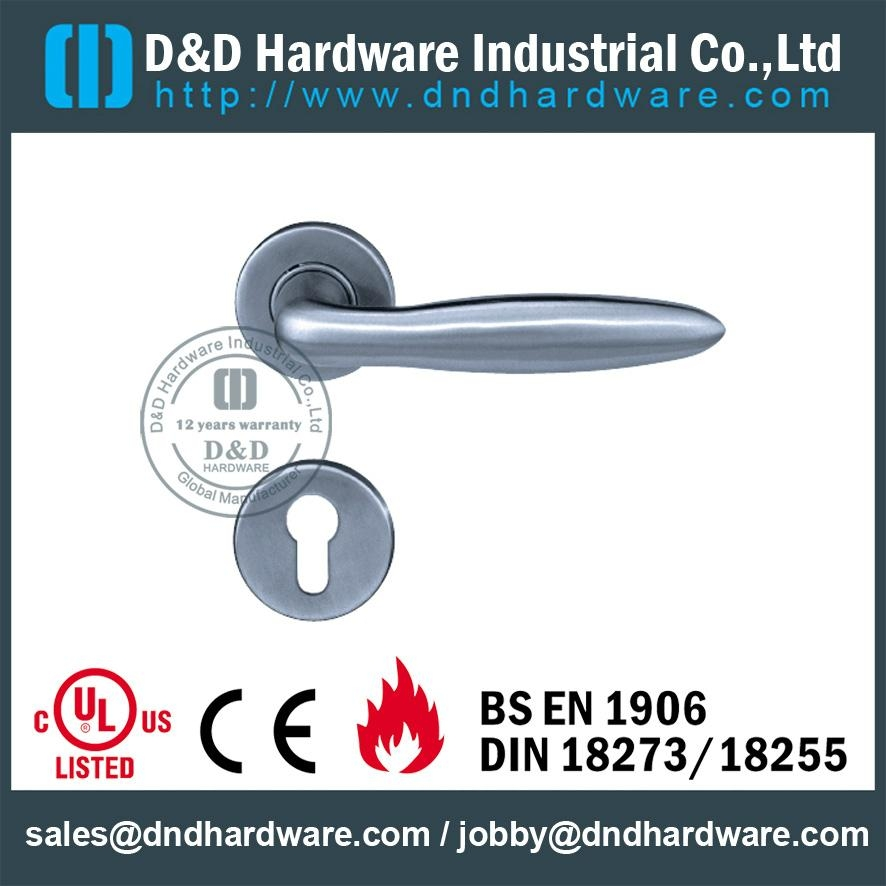 stainless steel solid door handle ANSI Standard  DDSH024