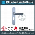 stainless steel solid door handle with plate ANSI Standard  DDTP003