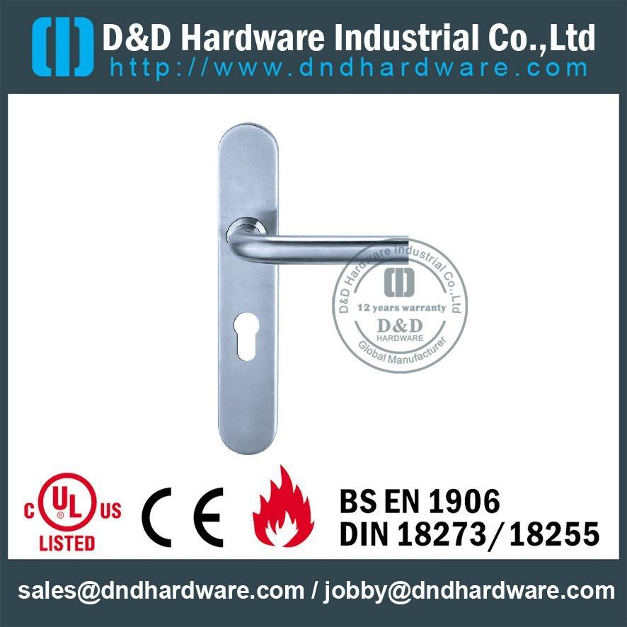 stainless steel door handle with plate ANSI Standard  DDTP003