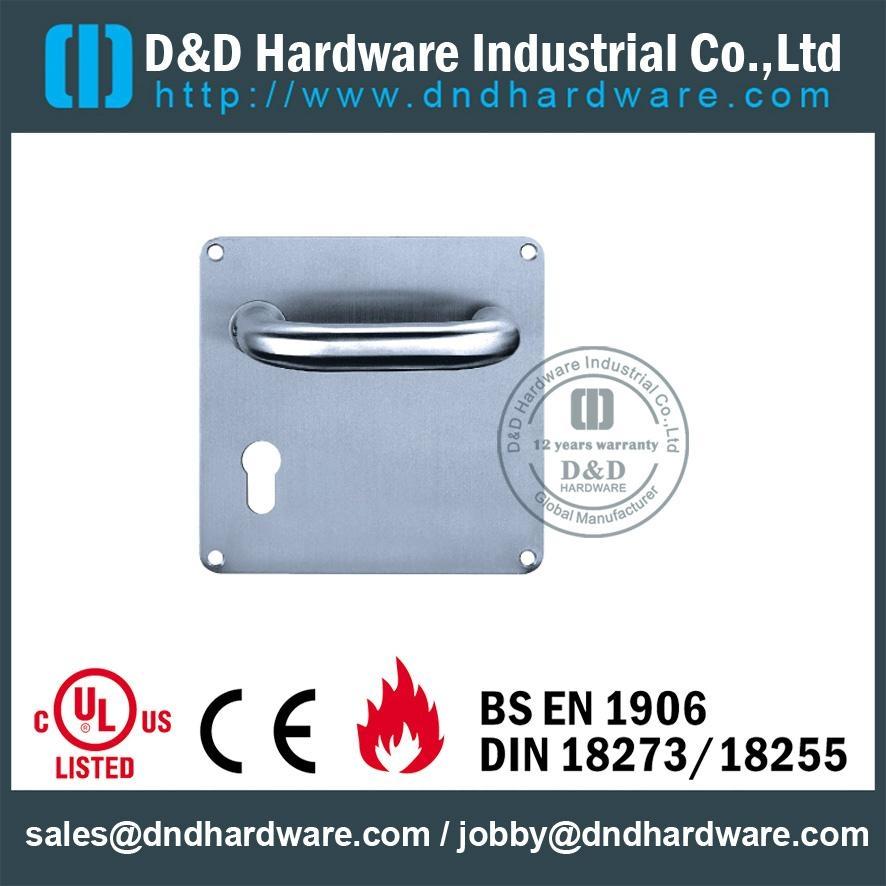 stainless steel door handle with plate ANSI Standard  DDTP001