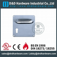 stainless steel door handle with plate ANSI Standard  DDTP001