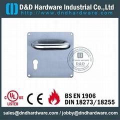 Lever handle with plate stainless steel door handle BS EN 1906 Grade3 & Grade4