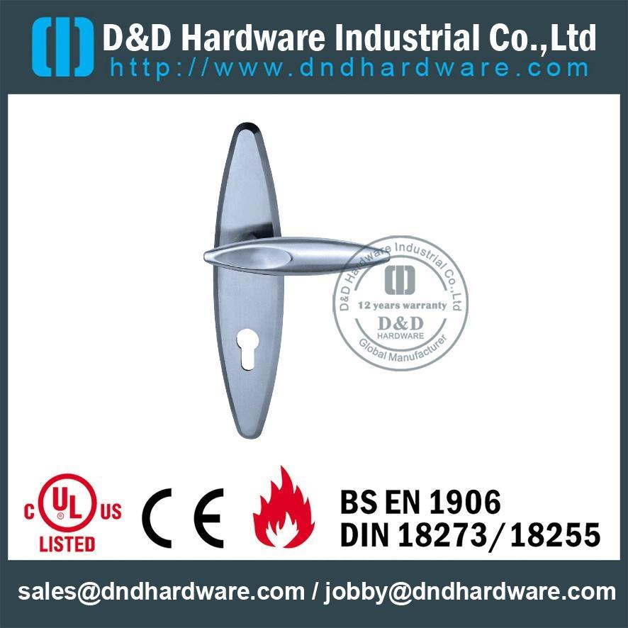 管拉手带面板不锈钢门把 BS EN 1906 Grade 3& Grade 4,型号:DDLP002