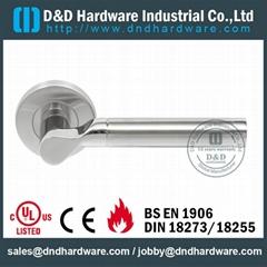 S/Steel lever door furniture