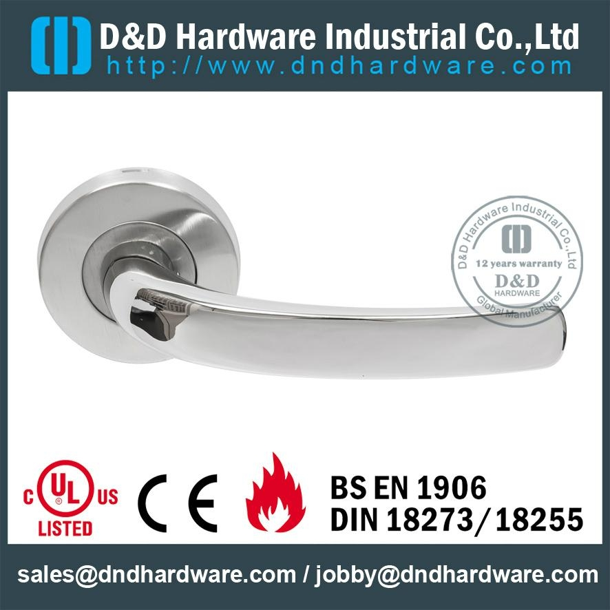 BS EN 1906 solid lever handle,fire rated